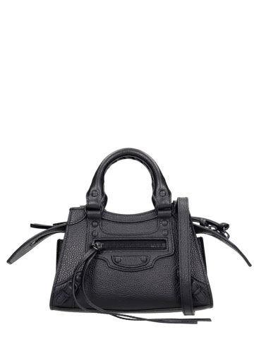 Neo Classic Nano Top Handle Bag in black