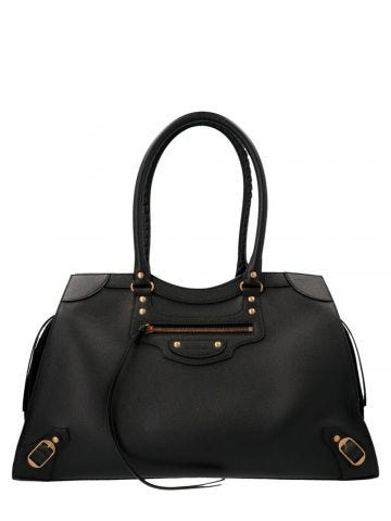 Neo Classic Large Top Handle Bag in black