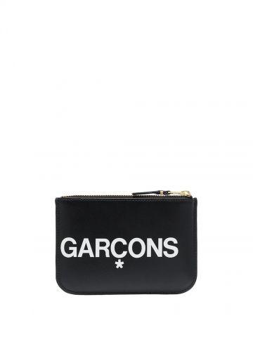 Pouch nero con stampa logo