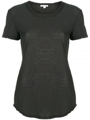 Shortsleeved grey cotton T-shirt