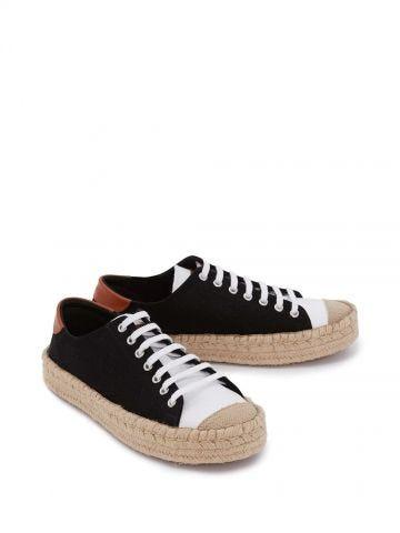 Black espadrille sneakers