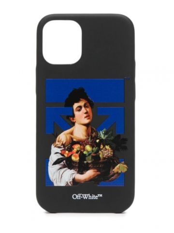 Black Caravaggio Boy iPhone 12 case