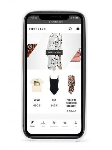 Cover per iPhone 12 bianca con Arrows