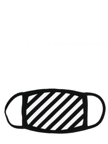 Mascherina nera con stampa Diag