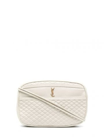 Victoire camera bag in white quilted lambskin