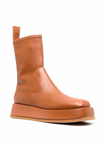 Gia x RHW brown Rosie 11 boots