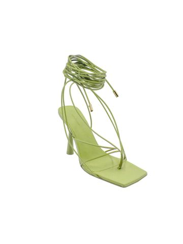 Gia x RHW green Rosie 6 lace-up sandal