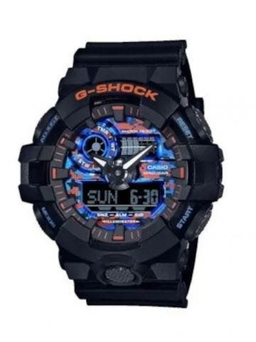 Multicolored G-SHOCK watch