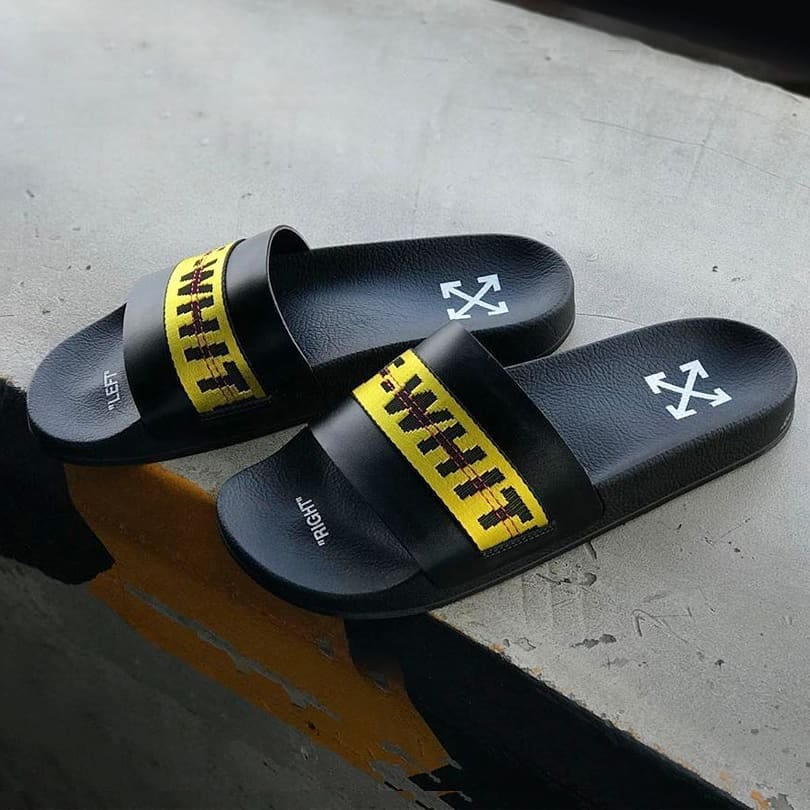 Seaside cool  @genteroma @off____white   Off-White Industrial logo slides available on genteroma.com and in store at Via del Babuino, 185.  #GenteRoma #OffWhite #FW20