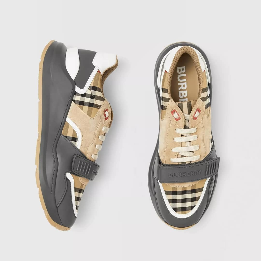 Vintage check @genteroma @burberry   Burberry sneakers available on genteroma.com and in store at Via del Babuino, 185.  #GenteRoma #Burberry #FW20