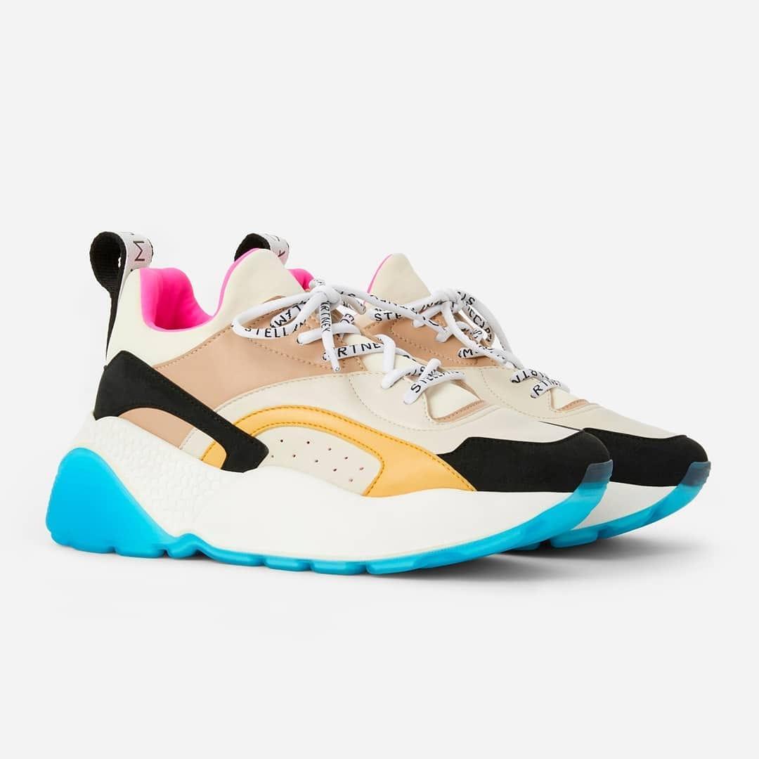 Multicolored details @genteroma @stellamccartney   Stella McCartney Eclypse sneakers available on genteroma.com and in our boutiques.  #GenteRoma #StellaMcCartney #FW20