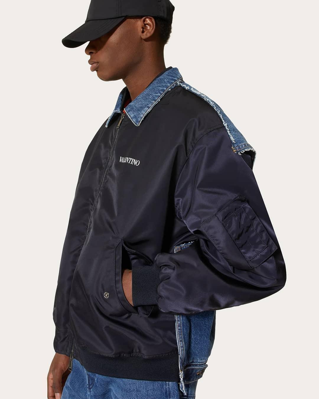Nylon and denim mix @genteroma @maisonvalentino   Valentino Garavani bomber jacket available on genteroma.com and in store at Via del Babuino, 185.  #GenteRoma #ValentinoGaravani #FW21