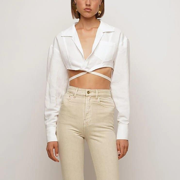 Cropped design  @genteroma @jacquemus   Jacquemus La chemise Laurier shirt available on genteroma.com   #GenteRoma #Jacquemus #SS21