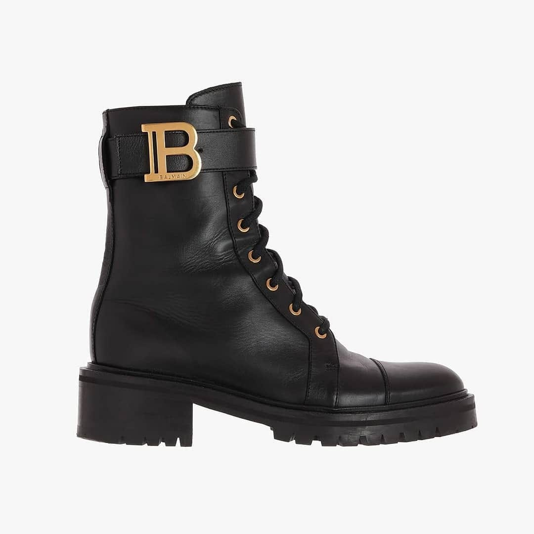 Gold-tone B  @genteroma @balmain  Balmain Ranger ankle boots available on genteroma.com and in store at Via del Babuino, 77.  #GenteRoma #Balmain #FW20