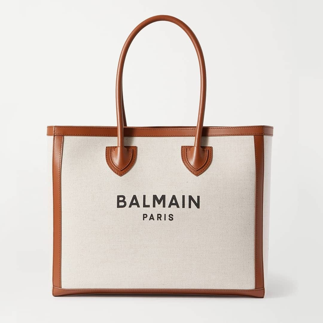 Natural hue  @genteroma @balmain   Balmain B-Army 42 canvas shopper available in our boutiques.  #GenteRoma #Balmain #SS21